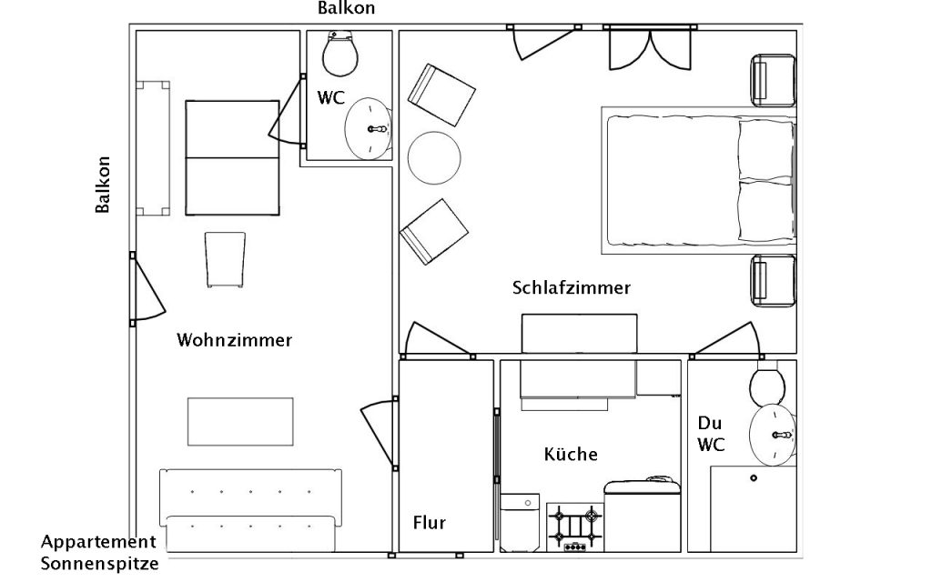 Appartement Sonnenspitze | Appartement Bettina | Ferienwohnung in Ehrwald | Tiroler Zugspitz Arena